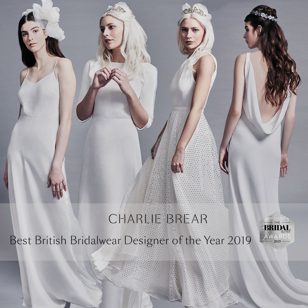 CHARLIE BREAR Best British Bridal Brand Winner 2019