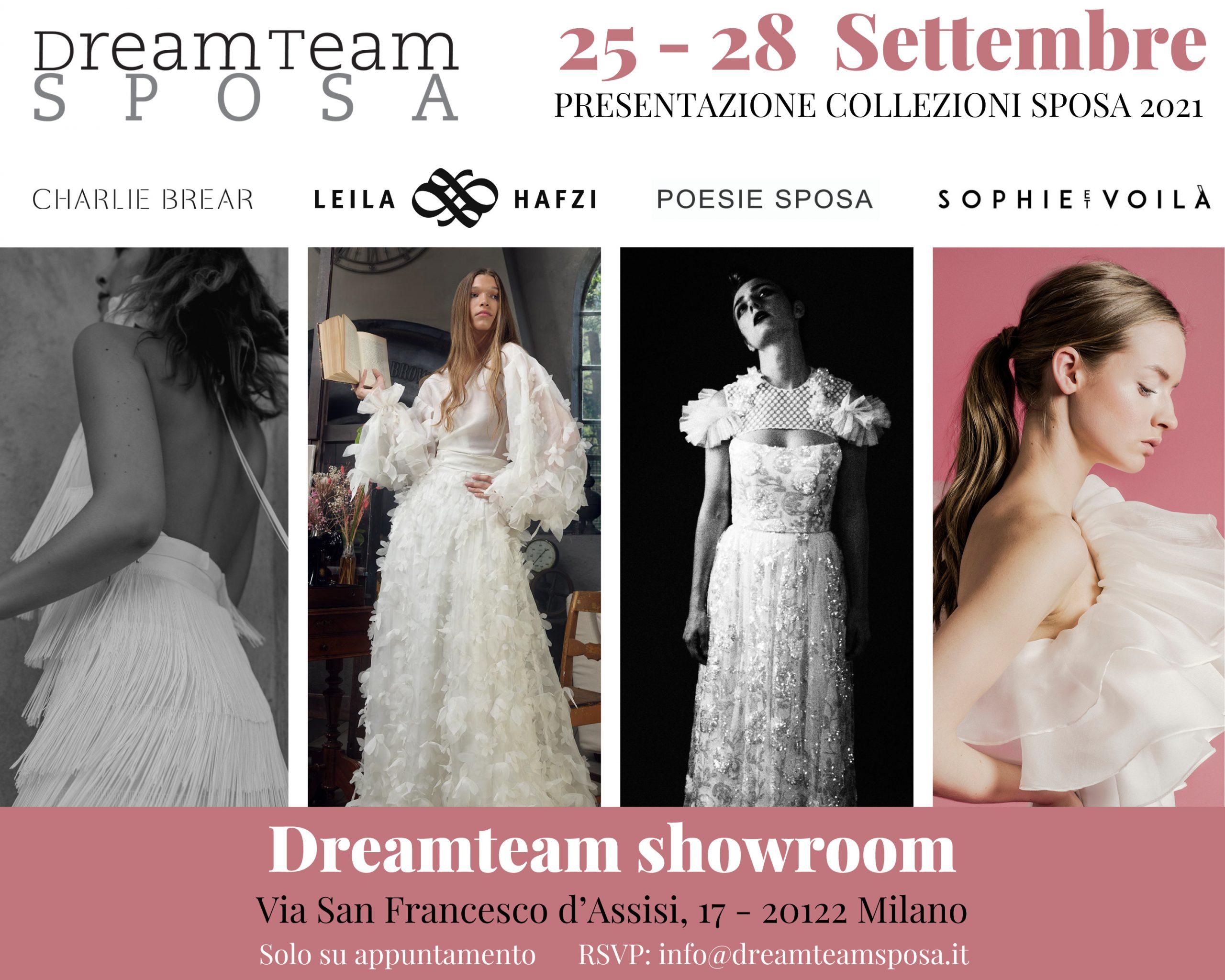 Dreamteam presenta le collezioni 2021 a Milano dal 25 al 28 settembre